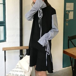 Dute - 長袖假兩件連衣裙