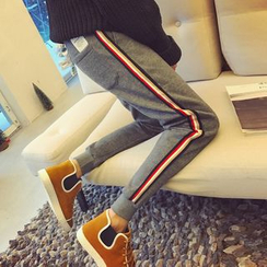 qiaqiayes - Stripe Jogger Pants