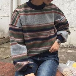 Cloud Nine - 條紋厚衛衣