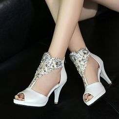 Sidewalk - Embellished Heeled Sandals