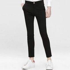 HEIZE - Cropped Slim Fit Pants