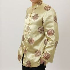 Golden Flowers - Chinese Style Button Jacket