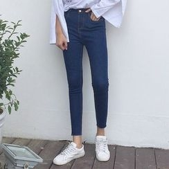 Napkiki - 短款窄身牛仔褲