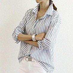 NANING9 - Cotton Pinstripe Shirt