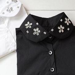 59 Seconds - Rhinestone Flower Accent Decorative Collar