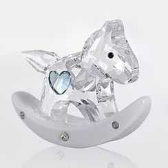Nanazi Jewelry - Crystal Rocking Horse Ornament