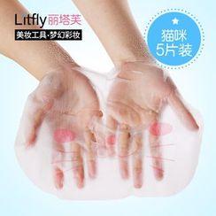 Litfly麗塔芙 - DIY 鎖水面膜紙 貓咪 (5片)