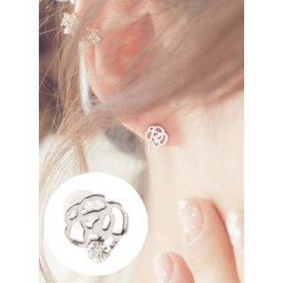 kitsch island - Crystal Stone Flower Earring