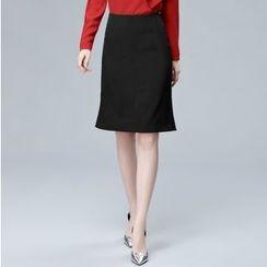尚都比拉 - 開衩鉛筆裙