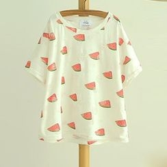 Angel Love - Food Print Short-Sleeve T-Shirt