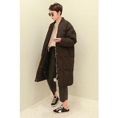 PPGIRL - Zip-Up Duck-Down Long Jacket