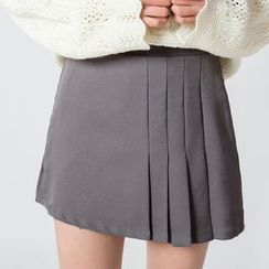 Glen Glam - Plain A-Line Skirt