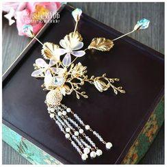 Neostar - 新娘仿珍珠吊飾髮夾