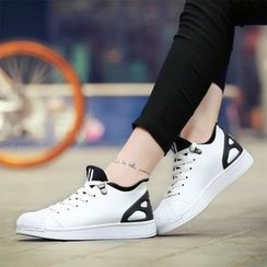 Main Road - Color Panel Lace Up Sneakers