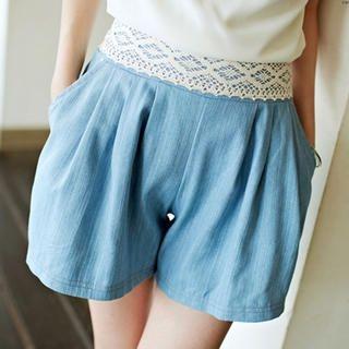 Tokyo Fashion - Lace-Trim Shorts