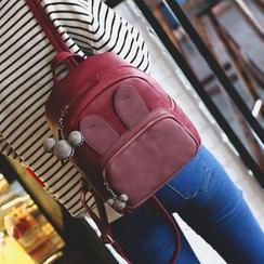 Tasche - Rabbit Ear Faux Leather Backpack