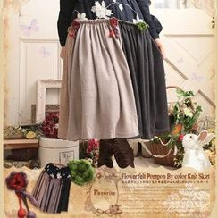 Nectarine - Floral Panel A-Line Skirt