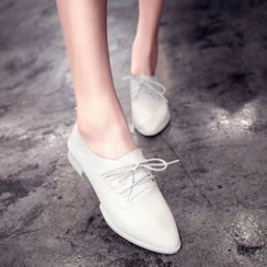 Moonlit Valley - Block Heel Oxfords