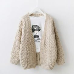 Sakunini - 麻花針織開衫