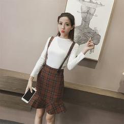 Romantica - Check Ruffled Jumper Skirt