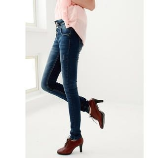 rico - High-Waist Washed Skinny Jeans