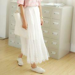 SUYISODA - Lace Maxi Skirt