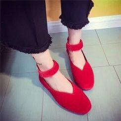 Chryse - 踝带平跟鞋