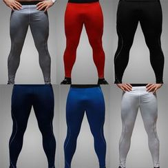 Hansel - 纯色运动窄身裤