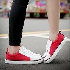 BINSHOU - Colour Block Canvas Sneakers