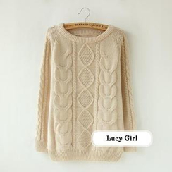 Lucy Girl - Cable Knit Sweater