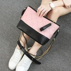 Princess Carousel - Color Block Chain Strap Shoulder Bag