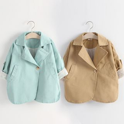 Seashells Kids - Kids 3/4 Sleeve Trench Coat