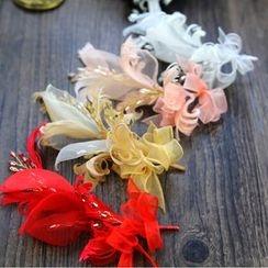 constello - Bridal Feather Hair Piece