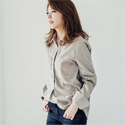 MAGJAY - Half-Placket Corduroy Top