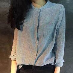 Cloud Nine - 条纹立领衬衫