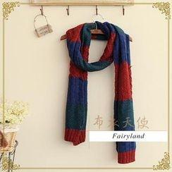 Fairyland - Color-Block Knit Scarf