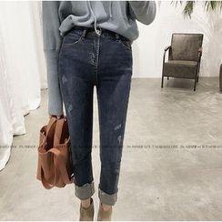 Octavia - Cuffed Hem Cropped Jeans