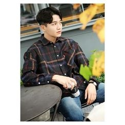 HOTBOOM - Wool Blend Check Shirt
