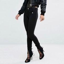 Richcoco - 纯色窄身裤