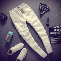 Gurun Vani - Drawstring Slim Fit Pants