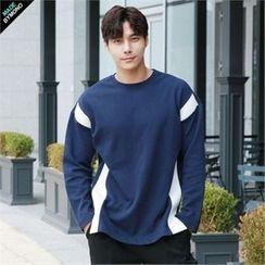 BYMONO - Crew-Neck Contrast-Trim T-Shirt