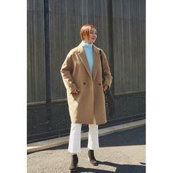 BBORAM - Notched-Lapel Oversized Wool Blend Coat