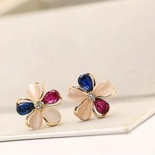 Love Generation - Crystal Flower Earrings