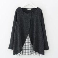 Meimei - Mock Two-piece Knit Top