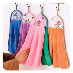 Momoi - Bear Print Hanging Hand Towel