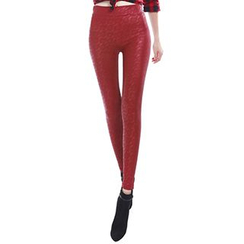 Crytelle - Faux Leather Skinny Pants