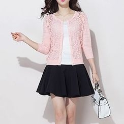 Coralie - 3/4 Sleeve Lace Cardigan