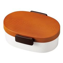 Hakoya - Hakoya Tight Mokume Oval Lunch Box Small (Brown)