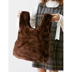 FROMBEGINNING - Faux-Fur Shopper Bag