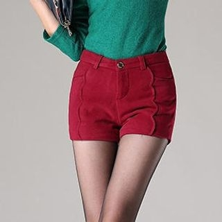 Ringnor - Scalloped-Trim Tweed Shorts